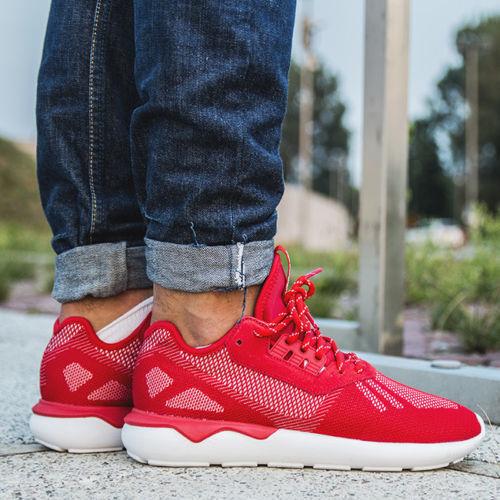 Gran descuento Nuevo ADIDAS Para Hombres Zapatos de tejido TUBULAR Runner/Tenis/Zapatillas/Escarlata/Comodidad