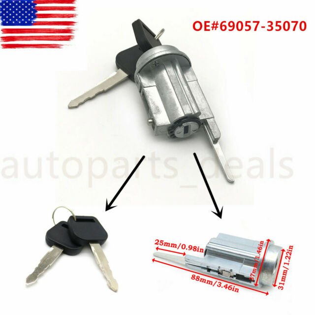 Ignition Switch Lock Cylinder/& Keys For Toyota 4Runner Tacoma 69057-35070  95-04