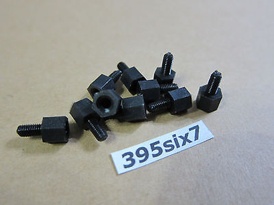 10x Nylon Standoff Spacer M3 Male x M3 Female - 5mm (Black Color)