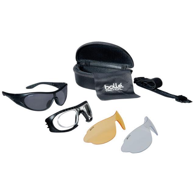 5e7e24cf49 Bolle Raider Tactical Spectacles Smoke Clear Yellow Lens Ballistic Glasses  Black