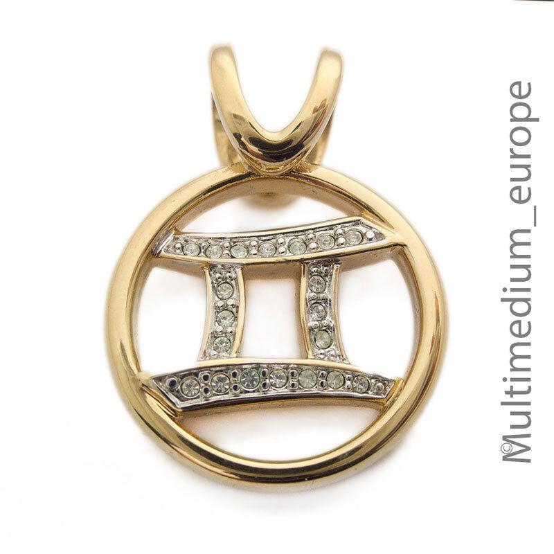 Pierre Lang Anhänger Sternzeichen Zwilling vergoldet pendant gilt