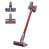Dyson SV09 V6 Absolute Cordless Vacuum (Red/Nickel/Iron) - Manufacturer Refurbished