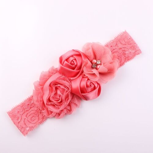 Newest Girl Baby Headband Chic Flower Lace Chiffon Hairband Bow Hair Accessories