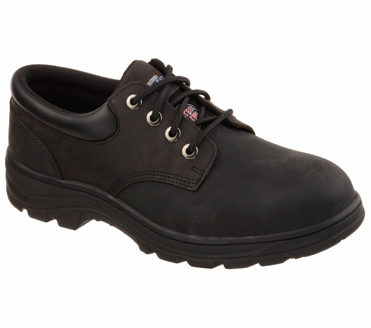 dc0cea39a89 New Authentic Men s Skechers 77047 77047 77047 WORKSHIRE-CORPUS Steel Toes  Shoes sz 8.5 0aab83