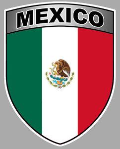 Mexico Drapeau Blason Bouclier Armoiries 10cmx8cm Autocollant