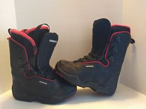 sonrojo Vacaciones Largo  Salomon Fusion F20 Snowboard Boots US Womens 7 EUR 39 Black Red Easy In Self  2 | eBay