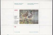 Canada Wildlife Conservation Duck stamp booklet #FWH1 MNH 1985 cv $15
