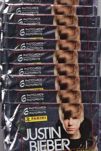Justin Bieber//10 cartocci//Photocards//Panini//Nuovo OVP RARO RAR
