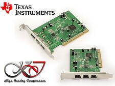 Carte PCI 3 ports FIREWIRE 800 IEEE1394B - TEXAS INSTRUMENT TI SN082AA2