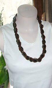1 Modische Halskette + Wunderschön Gefertigt - Brauntöne - Neu