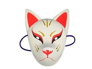 Japanese-traditional-face-mask-fox-mask-KITSUNE-Omen-Black-noh-kabuki