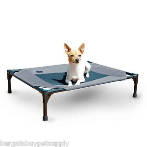 KH-Mfg-Pet-Dog-Cat-Cot-Indoor-Outdoor-Elevated-Raised-Waterproof-Bed-Medium-Gray