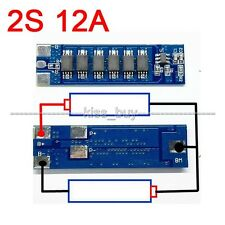 2S 12A PCB BMS Protection Board for 18650 Li-ion lithium Battery Cell 7.4V 8.4V