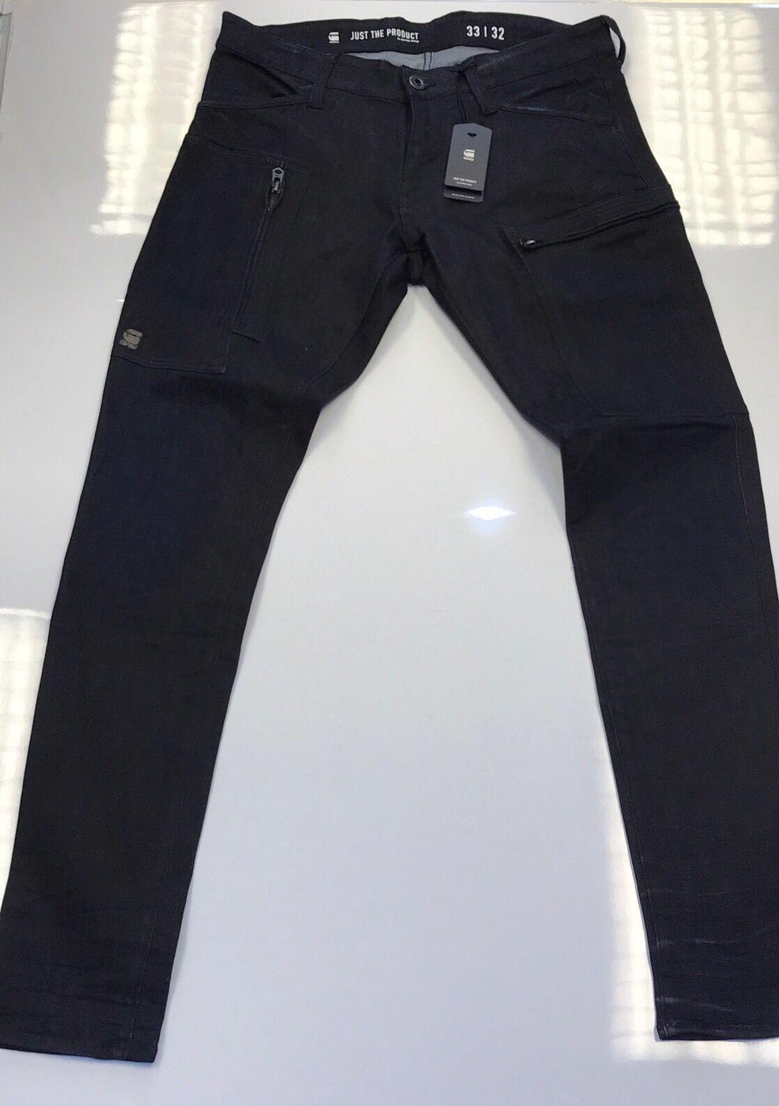 G Star Raw Super Slim Navy bluee Jeans