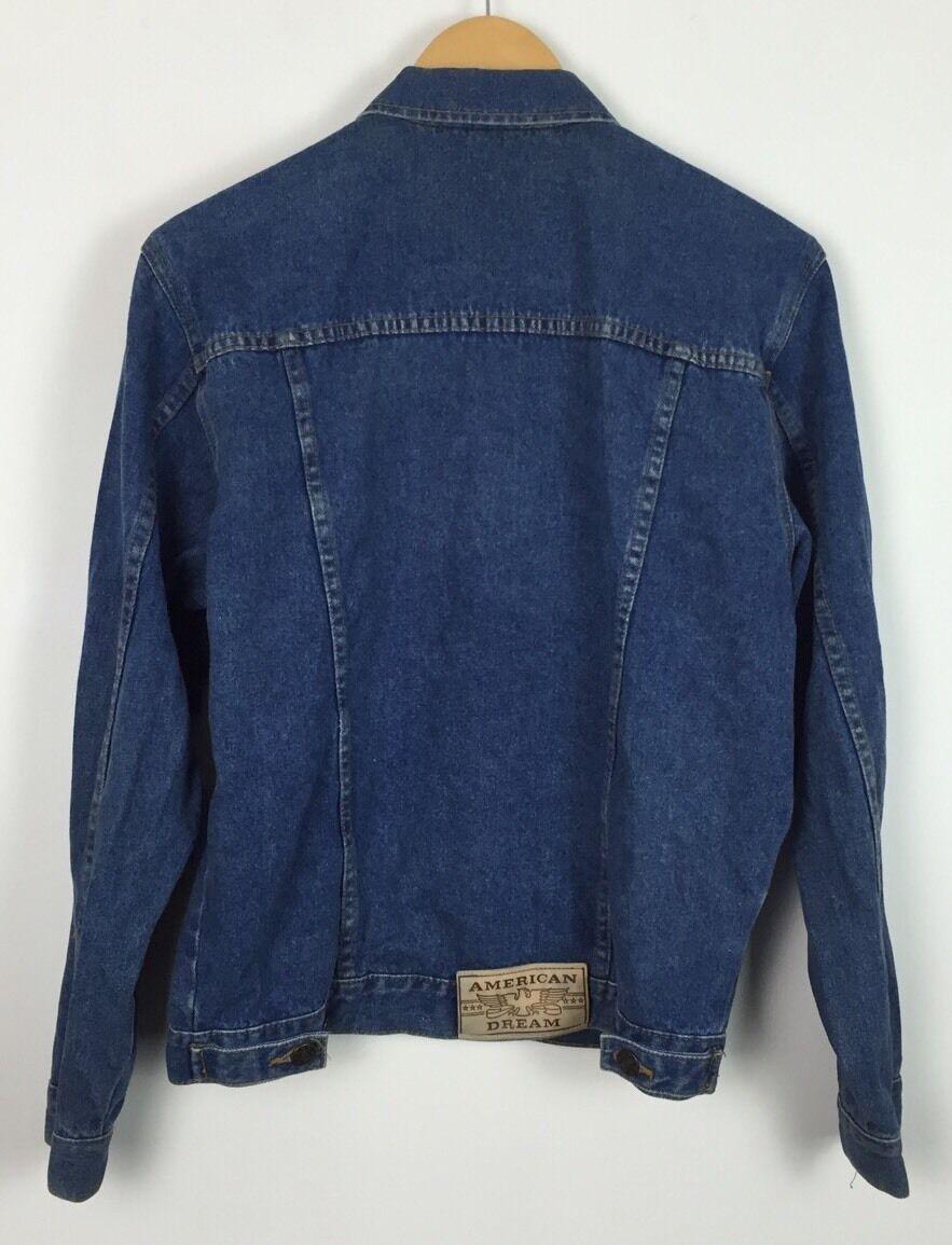 ac3fedaf3aa3 ... Vintage années 90 Veste en jean jean jean délavé Manteau Festival Rétro  Grunge Urban UK S ...