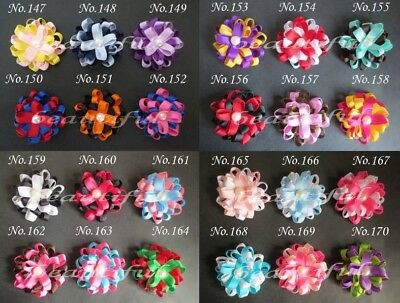 """100 BLESSING Good Latest Vogue Various Style 2.25-2.75/"""" A Flower Clip No.210"""