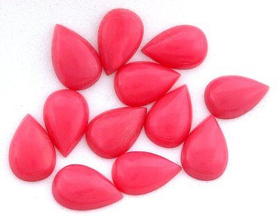 FIVE 7x5 7mm x 5mm Oval Resinated Red Coral Cabochon Cab Gem Stone Gemstone cc8