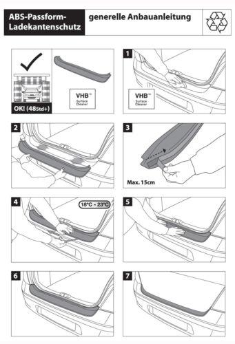 Original RGM Ladekantenschutz ABS schwarz Suzuki SX4 Kombi 5-Türer ab Bj 6.2006