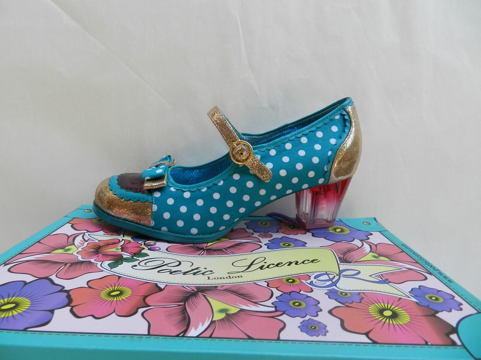 shoes Femme 41 Poetic Licence Final Whistle Mary Jane Irregular Choice Neuf
