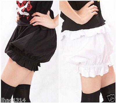 HOT Sale! Gothic Lolita Cosplay Shorts Bloomers Pantalooms Knickers Pants Black