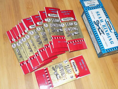NOS Unopened 12 Packs 1950s Seam Binding 36 Yard Pick Your Colors