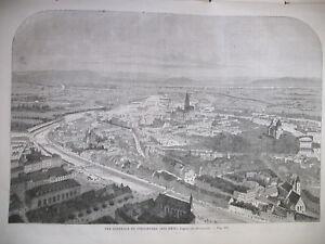 HAUT-RHIN-STRASBOURG-VUE-GENERALE-IMPERATRICE-amp-PRINCESSE-CLOTILDE-GRAVURES-1862