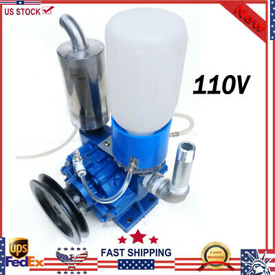 NEW Vacuum Pump For Cow Milking Machine Milker Bucket Tank Barrel 250L//min