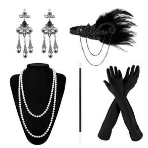 5x-dames-gatsby-flapper-annees-1920-costume-Charleston-accessoires-casque-BR