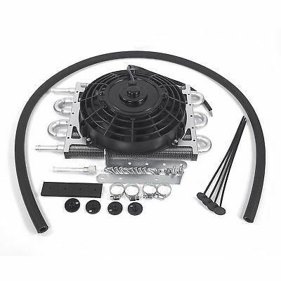 New Aluminum external transmission fluid oil cooler with Electric fan