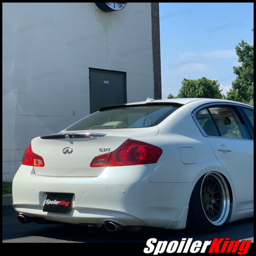 Fits: G series 2007-15 4dr 284RC Rear roof spoiler window wing SpoilerKing