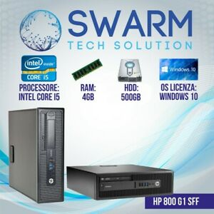 Pc Computer Desktop Fisso HP 800 G1 intel core i5-4570 4GB RAM HDD 500GB