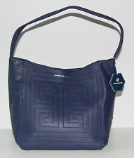 NWT Jonathan Adler Leather Nixon Astor Hobo Navy Blue Handbag Purse $278.00
