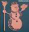 "temporada Die Cut Toppers ~ /""festivo muñeco de nieve/"" Tattered Lace Navidad"