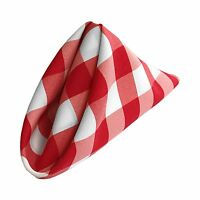 La Linen Pack Of 10 Gingham Checkered Napkins 18 By 18-inch. Made In Usa