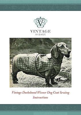 Unusual Vintage Knitting Pattern For Toy Dachshund
