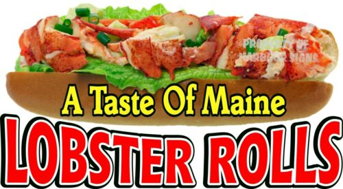 """Lobster Rolls A Taste of Maine Seafood Sandwich Concession Food Truck Decal 14/"""""""