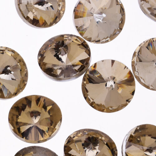16mm Pointed Back Round Rhinestones crystal Jewelry Making Supplies 50pcs 101820
