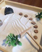 Large Zen Garden Bamboo Desert Rose Set Inc Incense Holder Meditation Relaxation