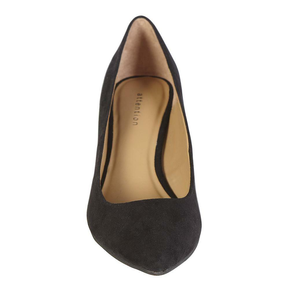 Attention Women's Black  Zoey Size Faux Suede Dress Shoes Size Zoey 8.5, 9.5 or 10 438cf7