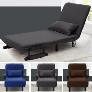 Excellent Details About Fold Out Sofa Bed Armchair Guest Single Beds Lounge Chair Adjustable Free Pillow Dailytribune Chair Design For Home Dailytribuneorg