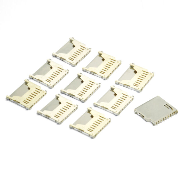 10Pcs new Push SD Memory Card Socket Connector Adapter Plug for arduino