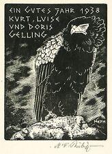MARTIN ERICH PHILIPP - Steinadler - Holzschnitt 1938
