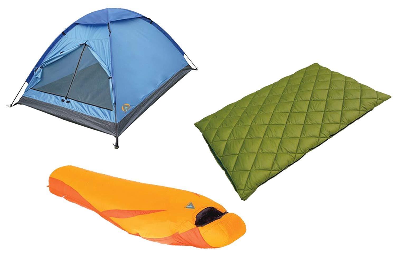 Alpinizmo High Peak HP746 20F colorado & Latitude Sleeping 3 Men Tent Combo Set
