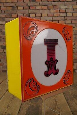 """Vintage Letra """" I """" Loft Decoración Lámpara Panel De Luz Circo Iluminación Años Lamps Decorative Arts"""