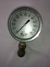 Vtg Ashcroft Psi Gauge 0 60 Industrial Tools Workshop Bronze Tube Brass Socket