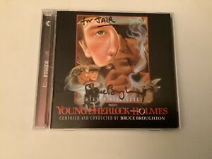 CD YOUNG SHERLOCK HOLMES Motion Picture Soundtrack SIGNED BY BRUCE BROUGHTON