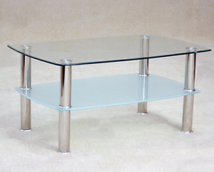 Image Is Loading Togo Clear And Frosted Gl Coffee Table With