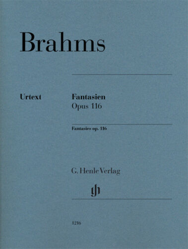 replaces revised edition 116  Brahms Fantasies op Johannes Urtext Edition
