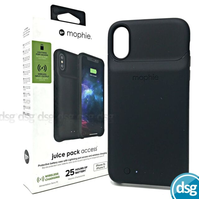 Mophie Juice Pack Access Apple iPhone X Xs Fast Qi Wireless Charging Battery