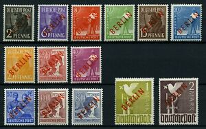 Germany-BERLIN-RED-1948-COMPLETE-SET-MINT-expertise-Schlegel-BPP